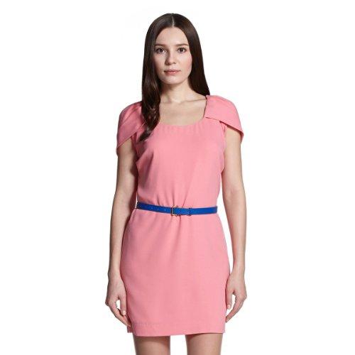 ochirly 欧时力 女式 欧美纯色宽松短袖连衣裙 1132080060025