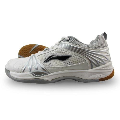 李宁lining正品 男款羽毛球专业休闲运动鞋子 轻便透气耐磨 AYZF019-3 43码