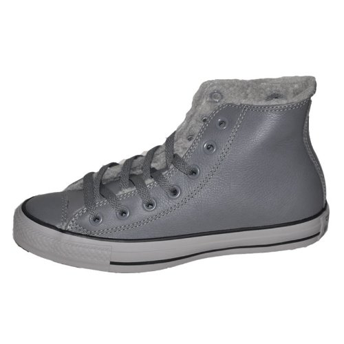 Converse 匡威 2013新款情侣运动高帮ALL STAR系列加棉皮质休闲板鞋 139815C 灰