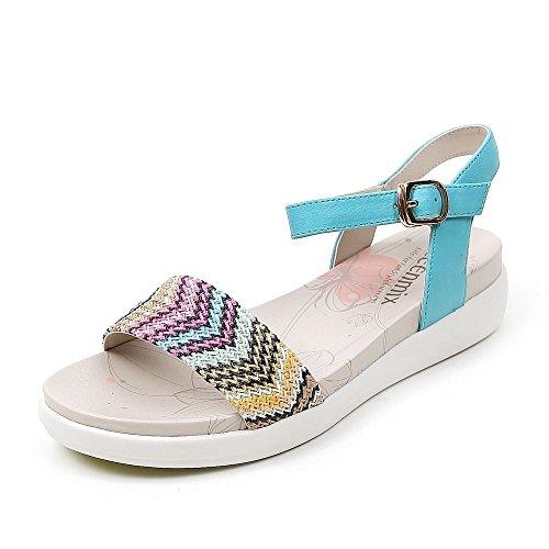 Teenmix 天美意 天美意夏季专柜同款山羊皮革女凉鞋专柜 6XY02BL5