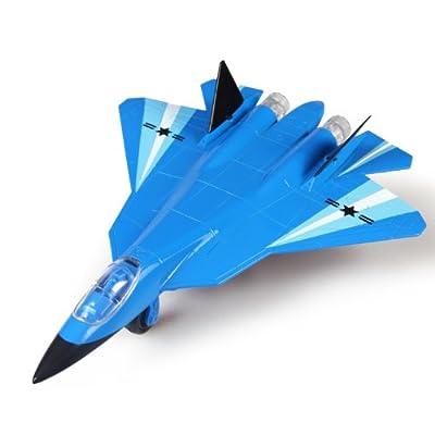 彩珀 俄罗斯第五代战机 t-50 战斗机 飞机 回力声光 合金模型玩具