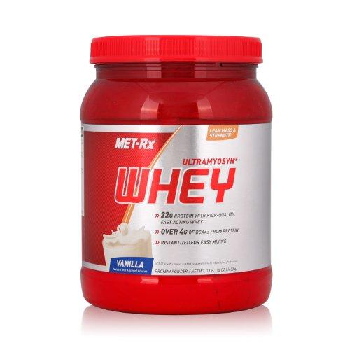 MET-Rx 美瑞克斯 Ultramyosyn乳清蛋白粉固体饮料(香草味)453g(进口)-图片