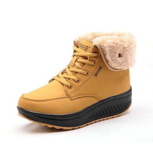 尤尼美 2013冬季新款摇摇鞋高帮棉鞋女厚底短靴保暖雪地棉鞋女靴子粗跟鞋6805