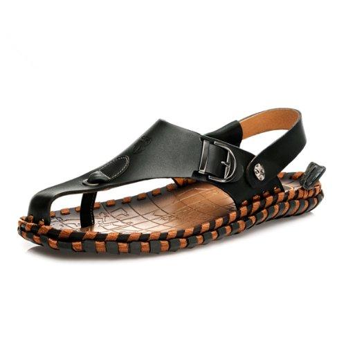 VanCamel西域骆驼 户外清凉男鞋 时尚拖鞋 头层牛皮 经典休闲凉鞋 夏季新款 沙滩鞋 凉拖鞋