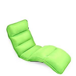 FULLLOVE 超透氣布藝沙發 可折疊 午休椅 躺椅 宜家沙發 深綠色