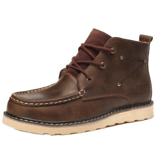 Unbeaten 时尚杂志款品质 潮流真皮 沙漠靴 高帮靴 军靴 骑士靴 马靴 流行 马丁靴 男鞋