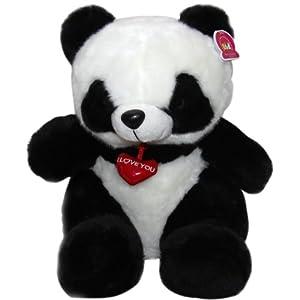 可爱吊心熊猫 熊猫公仔 毛绒玩具熊猫 (30cm)