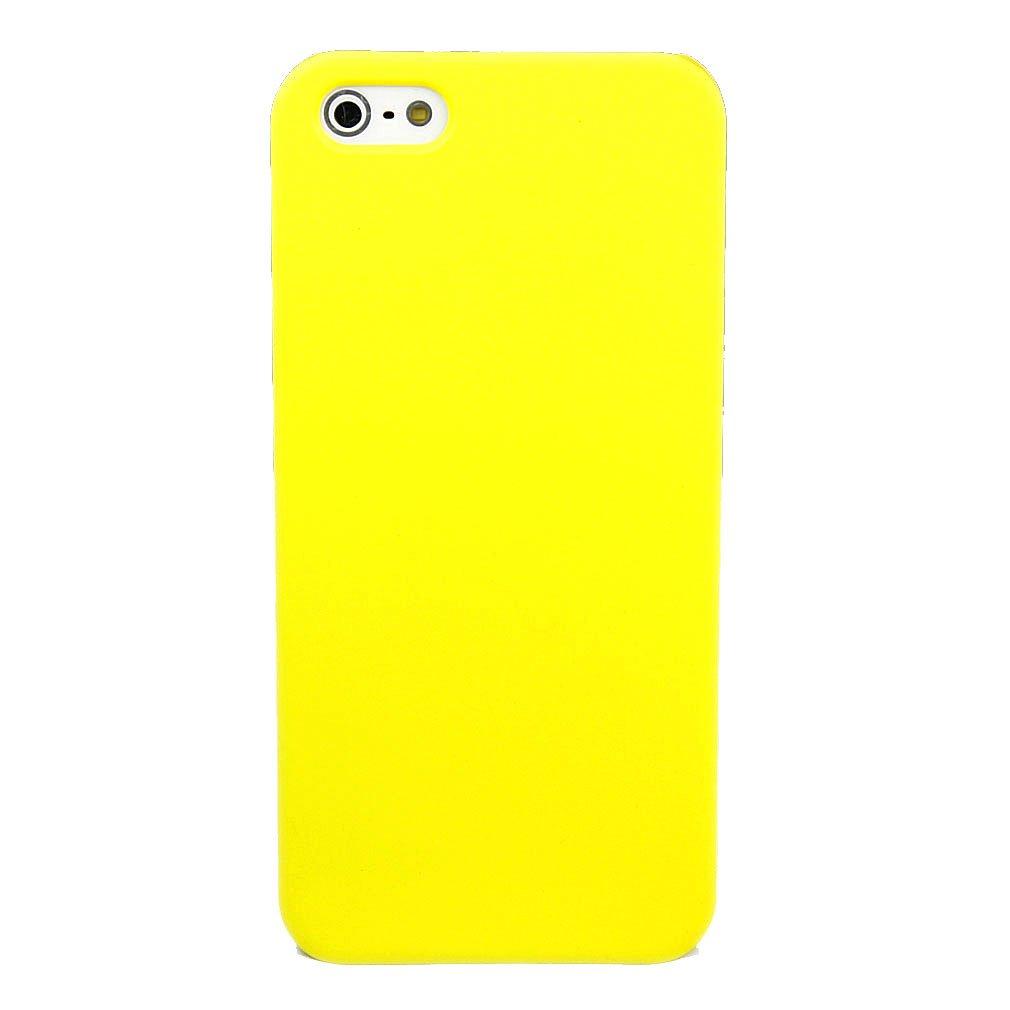 苹果 iphone 5 手机壳 手机套 实用简约纯色橡胶壳 黄色   屏保