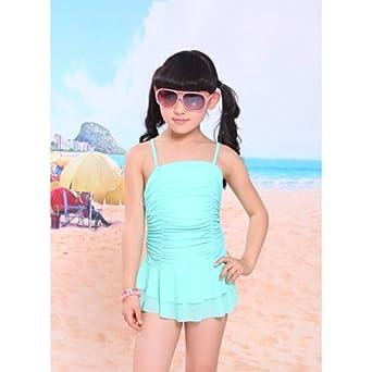 海韵莱 新款 儿童泳衣 连体三角可爱女孩泳装 糖果色系列 hyl5126