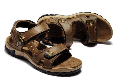 Van-camel 西域骆驼 夏季新款男鞋 真皮凉鞋 时尚户外休闲鞋溯溪鞋 露趾沙滩鞋拖鞋 透气休闲鞋