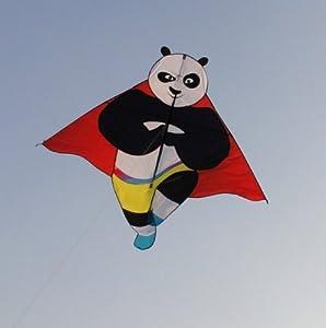 百特 潍坊风筝 原创设计 功夫熊猫 好飞 特价 最新款熊猫-童子拜佛