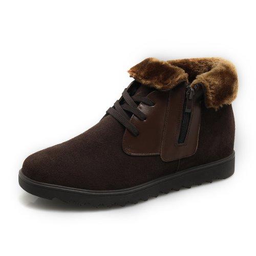 GOG 高哥牛皮棉靴雪地靴潮流休闲鞋男鞋 内增高6.5cm 内增高雪地靴 C41353