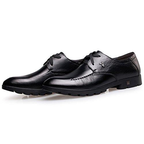 花花公子playboy2015新款秋季新款男鞋真皮透气软面牛皮鞋男士商务休闲鞋系带鞋子