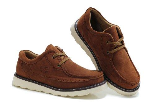 Guciheaven 英伦风时尚型男最爱 柔软真皮舒适透气休闲鞋 反绒牛皮 男士商务男鞋