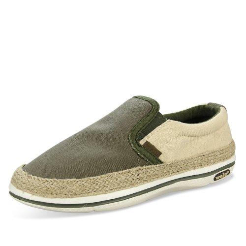 WALU 沃尔卢 麻编套脚鞋 一脚蹬 透气懒人鞋 低帮帆布鞋 男 W305