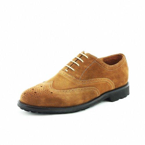 TIMOTHY&CO 迪迈奇 意大利进口反绒皮 皮层拼接 镂空设计男士休闲皮鞋TA08-4B