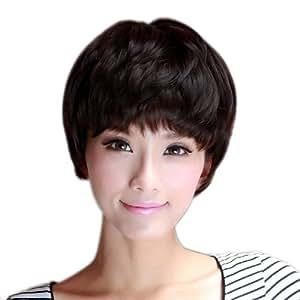 齐刘海蓬松女生假发短发帅气女