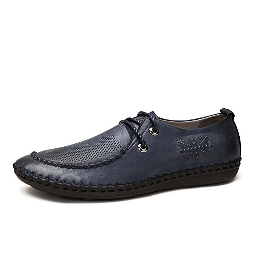Camel 骆驼 男鞋 复古透气牛皮手工男鞋 2015夏季新款休闲皮鞋