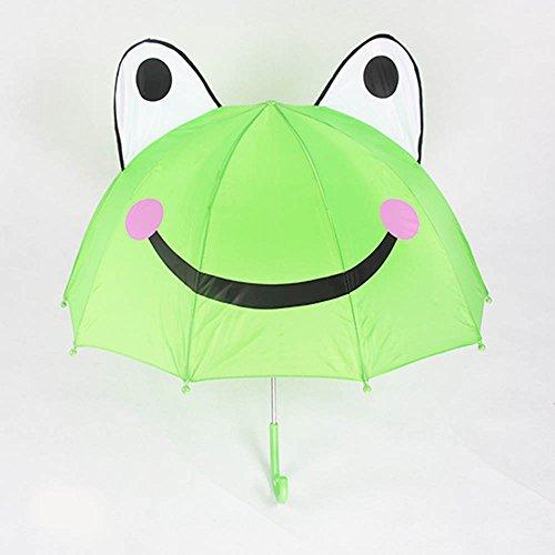 儿童卡通造型伞男女可爱宝宝小雨伞公主遮阳伞创意礼物童伞 小青蛙