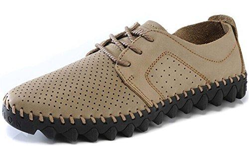 骆驼动感 时尚商务休闲皮鞋 驾车鞋 个性真皮冲孔透气男鞋 绅士高级男鞋111309-1