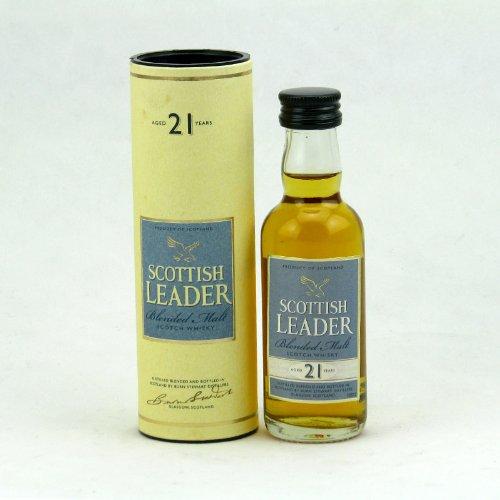 SCOTTISH LEADER 仕高利达 SCOTTISH LEADER 21 YEARS 苏格兰仕高利达21年纯麦威士忌 50毫升 玻璃瓶酒版 盒装-图片