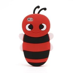 avaid 爱美得 可爱苹果5s手机壳 iphone4 4s 5硅胶套保护套卡通小蜜蜂