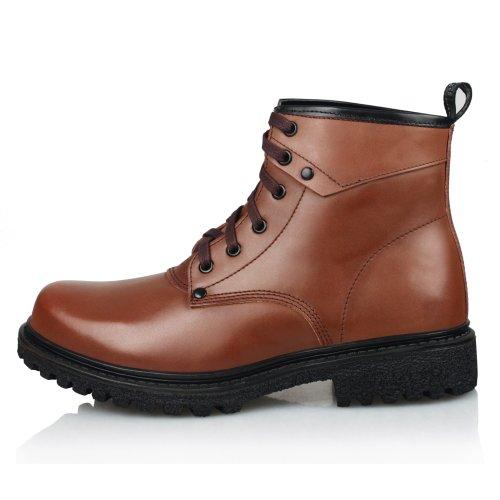 强人 3515强人男鞋冬季新款真皮羊毛皮靴英伦潮流时尚休闲保暖耐磨棉靴DAC73053