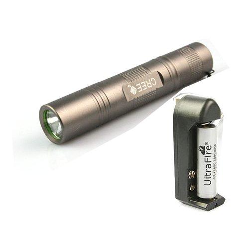 XLHBIKE 正品超亮 强光手电筒 手电筒18650 车前灯 (升级版 灰色色/充电套装+灯架)-图片