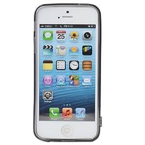 ...苹果 iphone5水晶黑 超薄清水套手机保护套 iphone5软壳 赠...