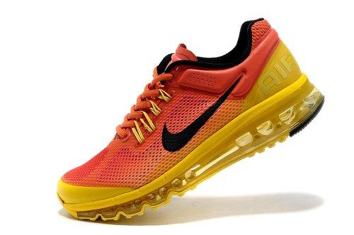 NIKE 耐克 AIR MAX系列 网面 耐克气垫跑步鞋 男女鞋 缓震 抓地 休闲运动 情侣鞋NO:5 桔灰黄