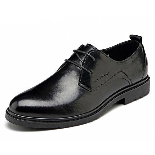 FGN 富贵鸟 男士 头层牛皮鞋商务正装皮鞋男式英伦 圆头低帮系带婚鞋男鞋子T1881