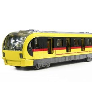 玩具火车 玩具车 合金回力车模 火车模型 声光地铁7030 (黄色)