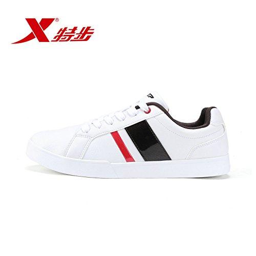XTEP 特步 男鞋春夏轻便耐磨运动休闲时尚百搭男滑板鞋