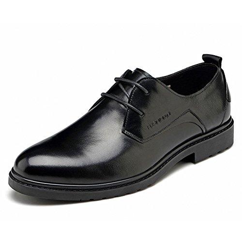 FGN 富贵鸟 男士 头层牛皮鞋商务正装皮鞋男式英伦 圆头低帮系带婚鞋男鞋子T401881
