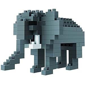 loz 俐智 德国 创意拼装 乐高式钻石颗粒积木 动物公仔系列 大象 9320