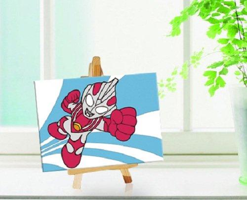 自油自画 数字油画diy手绘儿童可爱动漫卡通迷你油画 小熊 正品 10*15