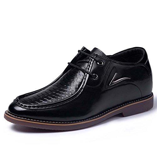 2015秋季新款男士正装内增高牛筋底增高皮鞋6.5厘米415410