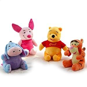 a玩偶玩偶毛绒玩具布娃娃小熊维尼跳跳虎小玩具杰小驴屹耳公仔葫芦兄弟城堡可动猪皮图片