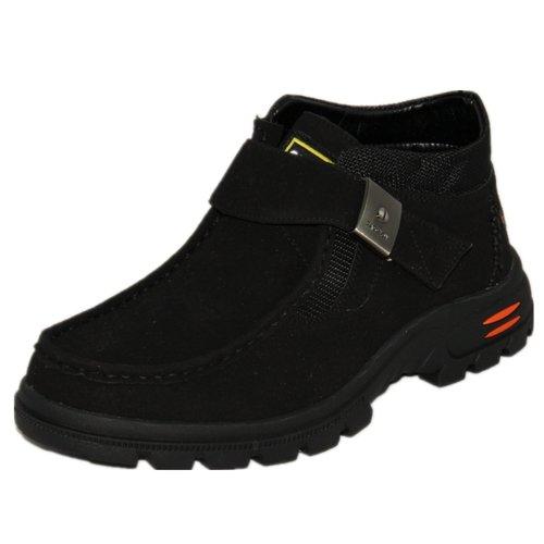 玉兰 老北京布鞋男士冬款搭扣休闲棉靴1616-98