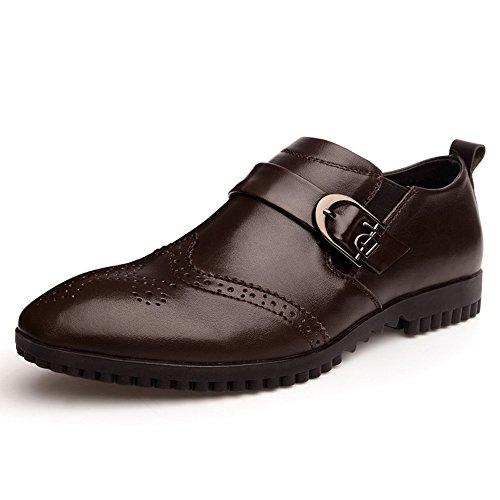 vancamel 西域骆驼 男式时尚流行男鞋韩版布洛克雕花皮鞋英伦男士商务潮鞋 1094
