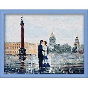 佳彩天颜 数字油画diy 客厅风景抽象手绘情侣装饰画 永恒瞬间 永恒