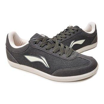 lining 李宁 男式 文化系列舒适足球文化鞋 灰色ASCG0034/ASCG003-4黑色ASCG0032/ASCG003-2 包邮