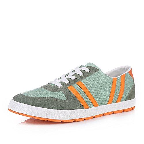 人本 2014新款男士帆布鞋 英伦风时尚休闲男鞋 平底耐磨男单鞋RB9985