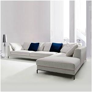 米达尔 布艺沙发组合套装沙发 简约现代客厅转角小户型沙发S7072 (浅灰色, 3.7米右扶左塌)