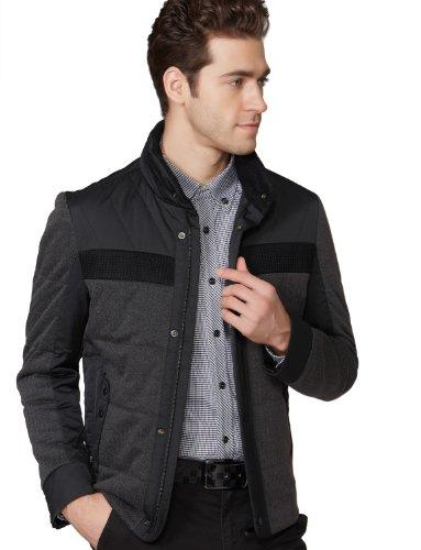 OSA欧莎2013冬季新款男 时尚单条纹撞色保暖男士棉衣棉服MM34033 促