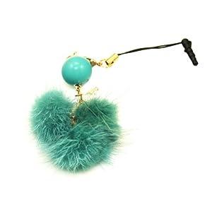 乾甲天 圆珠毛球手机挂件(绿色)