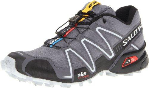Salomon 萨洛蒙 SHOES SPEEDCROSS 3  男 跑步鞋 329785 深灰色 42(2/3) (UK 8.5)