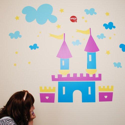 儿童色彩简笔画城堡