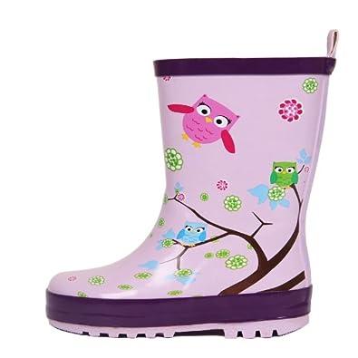 儿童雨鞋时尚可爱猫头鹰女加绒雨靴水鞋胶鞋套鞋水靴