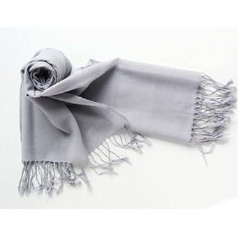 欧美百搭纯色纯羊毛长款围巾